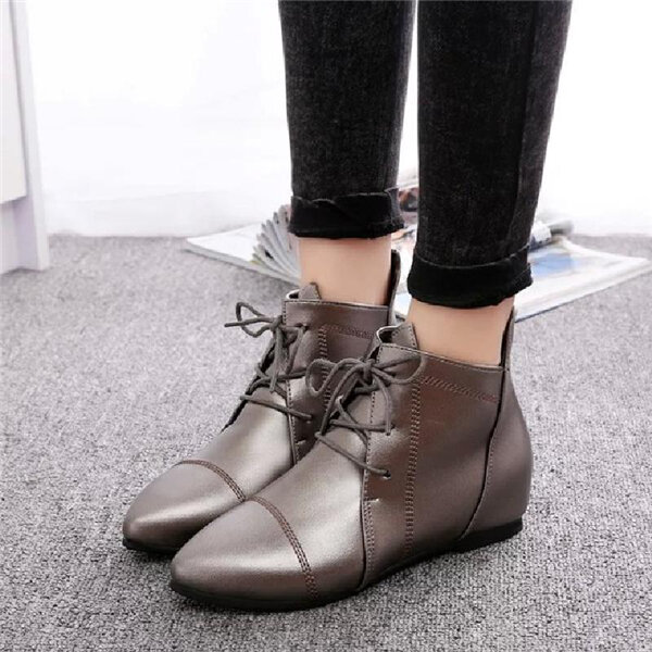 Large Size Bright Pointed Toe Boots