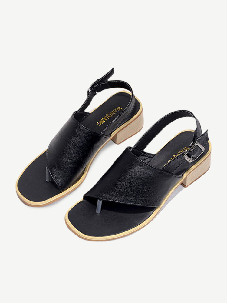 Women Large Size Buckle Casual Sandals