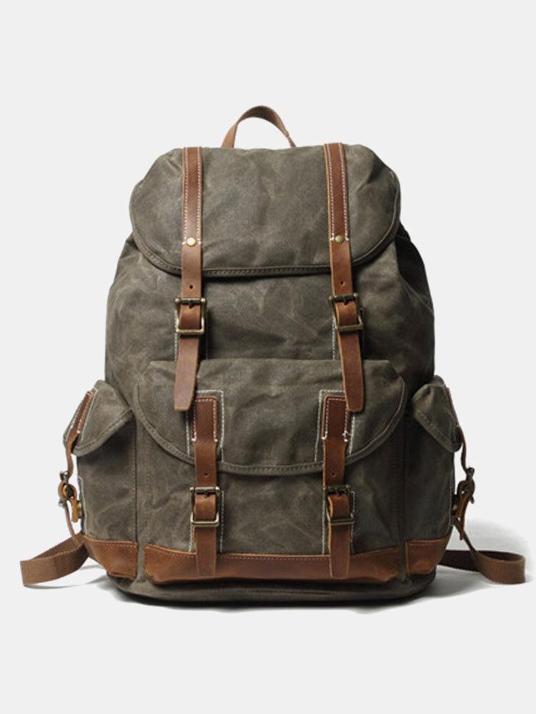 पुरुषों रेट्रो बड़ी क्षमता बहु जेब बैग