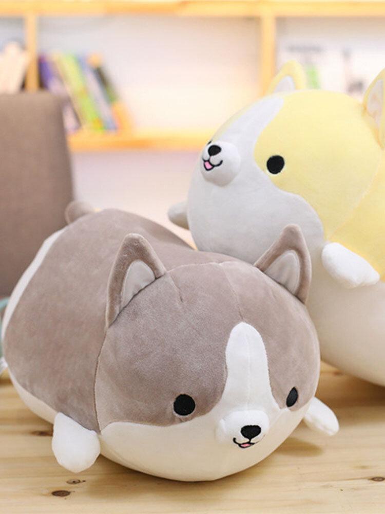 35/50/60cm Kawaii Short Plush Cartoon Shiba Inu Corgi Dog Hug Pillow Soft Cushion Christmas Gift