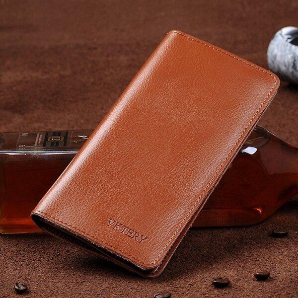 Men Genuine Leather Large Capacity Phone Bag Wallet