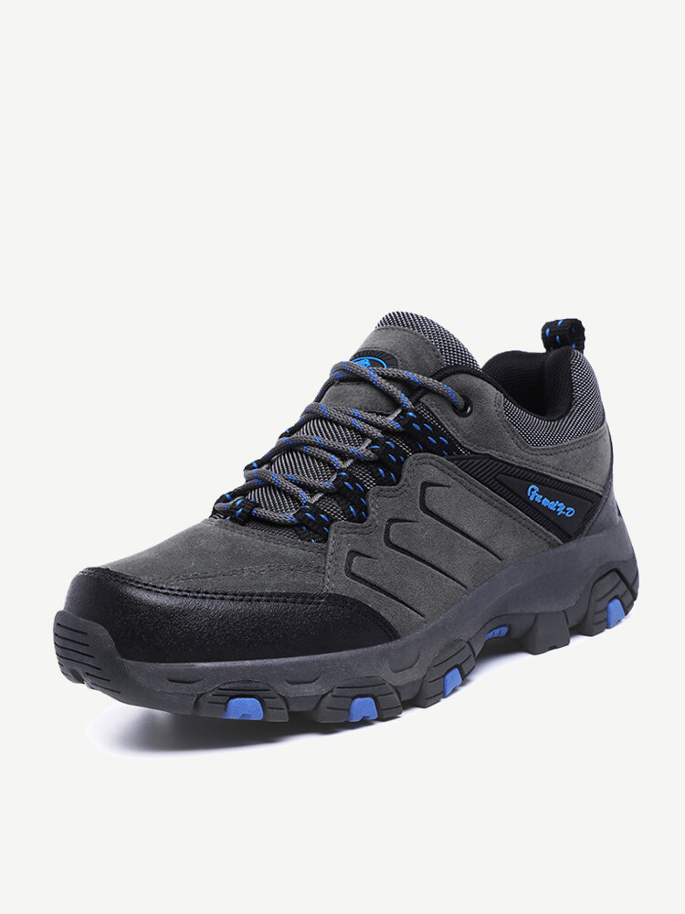 Men Hiking Shoes Outdoor Lace Up Non Slip Sneakers