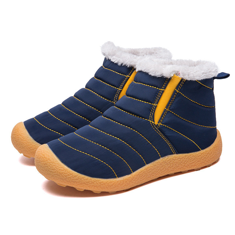 Unisex Waterproof Solid Color Warm Lining Snow Boots For Kids
