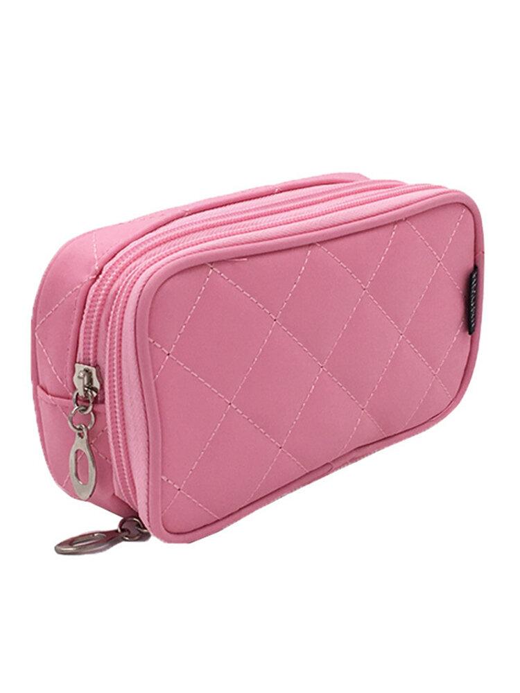 Honana HN-B56 Portable 2 Layers Travel Storage Bag Colorful Cosmetic Makeup Organizer Toiletry Stora