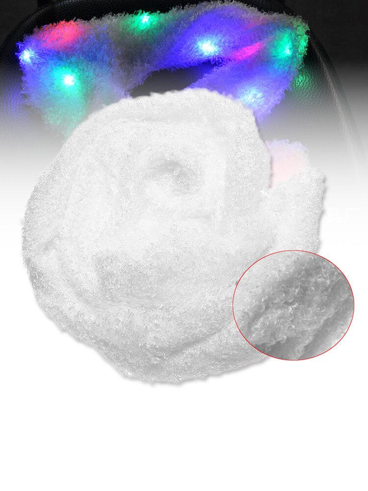 Christmas Flashing Colorful LED Light Soft White Scarf Festival Gift