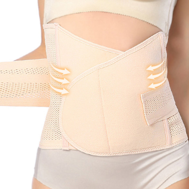 After Birth Belly Control Front Closure Adjustable Breathable Waist Trainer Shapewear