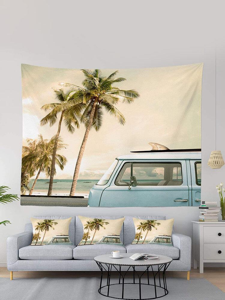 1 шт., Лето Пляжный, гобелен с пейзажной печатью, домашний декор, гостиная, спальня, фото, реквизит, настенные художественные гобелены