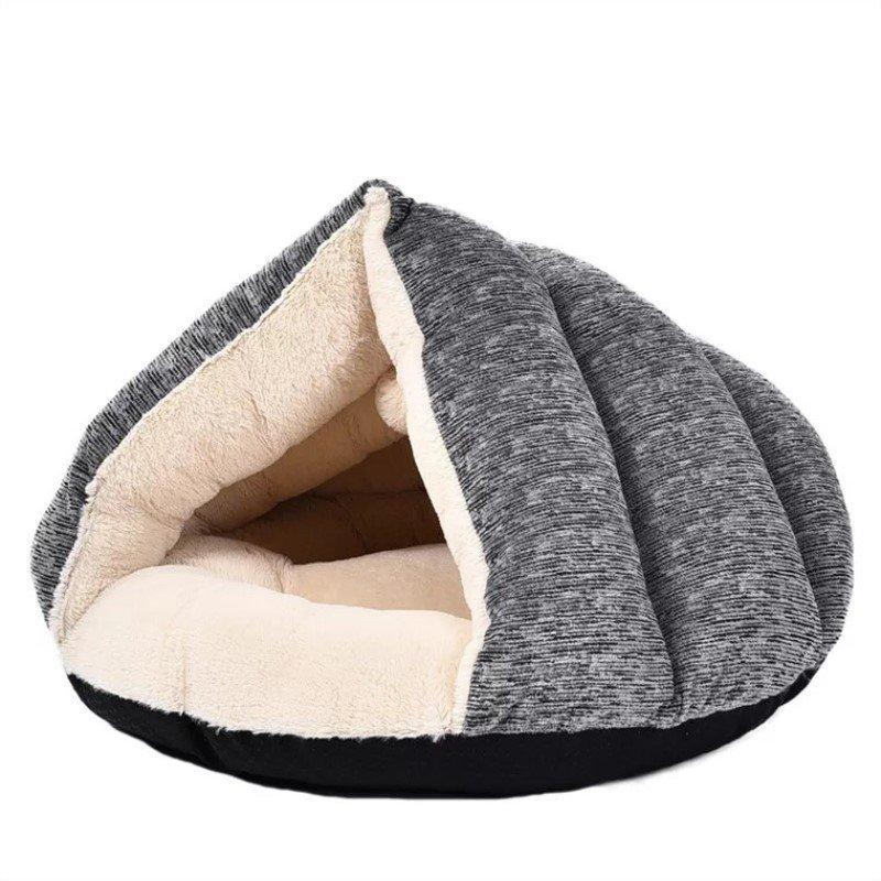 Pet Dog Cat Winter Soft Warm Plush Sleeping Bag Puppy Tent Cave Bed