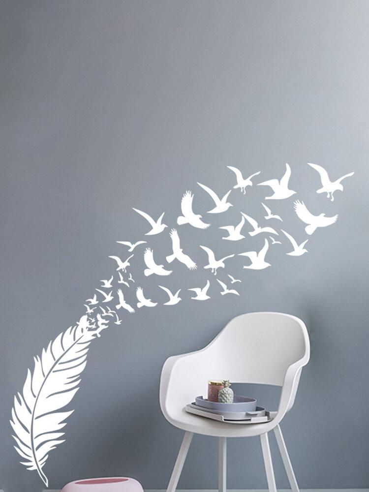 Ватикан резные настенные наклейки креативное перо птица украшение дома настенные наклейки украшение дома