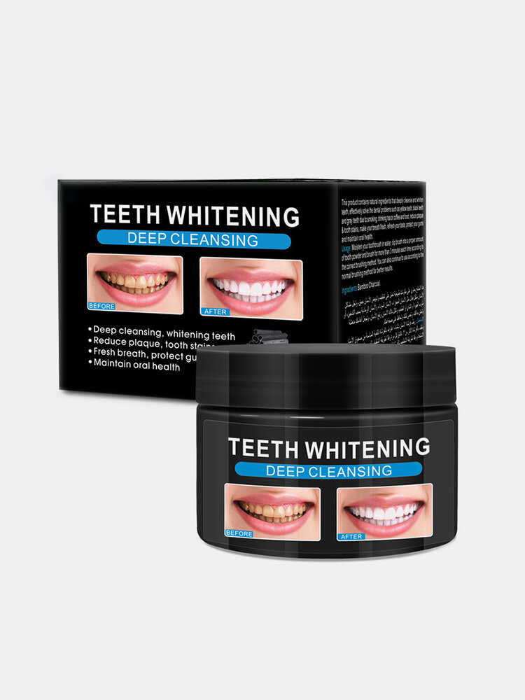 Natural Teeth Whitening Bamboo Charcoal Powder Teeth Whitening Repair Remove Stains Teeth Care