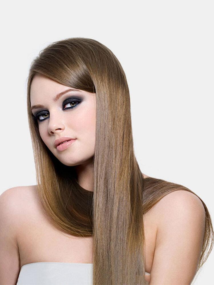26 цветов длинные прямые Волосы удлинители 5 зажимов ложные Волосы шт. Высокотемпературное волокно Парик
