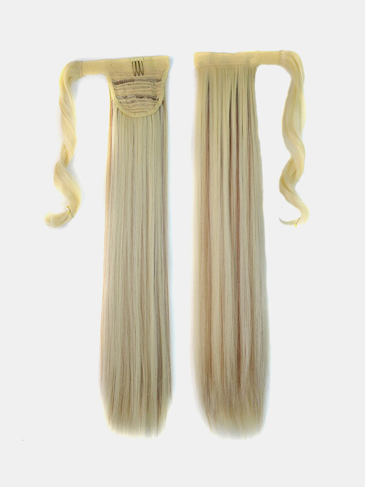 Long Straight Ponytail Women's  Synthetic Hair 6 Colors Magic Clip  In Hairpiece