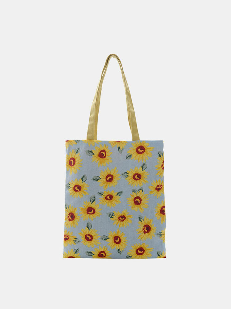 Women Dotted Daisy Printed Tote Bag