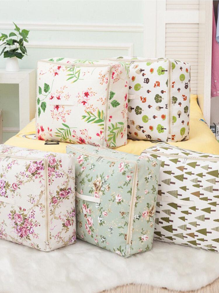 Machine Washable Cotton Linen Clothing Bag Quilt Cabinet Sorting Storage Bag Organizer