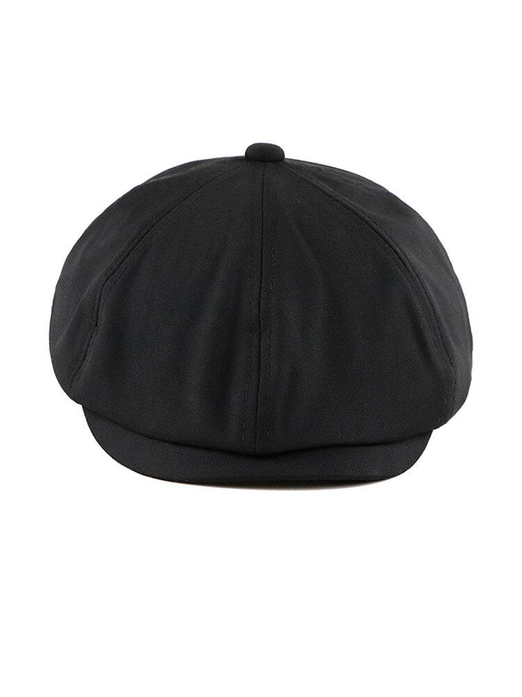 Men Women Vintage Beret Octagon Hat Wild Casual British Painter Hat