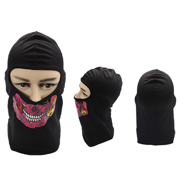 Men's Women's Polyester Lycra Skull Face Full-protection Mask Face Neck Hat Outdoor Cycling Sunshade