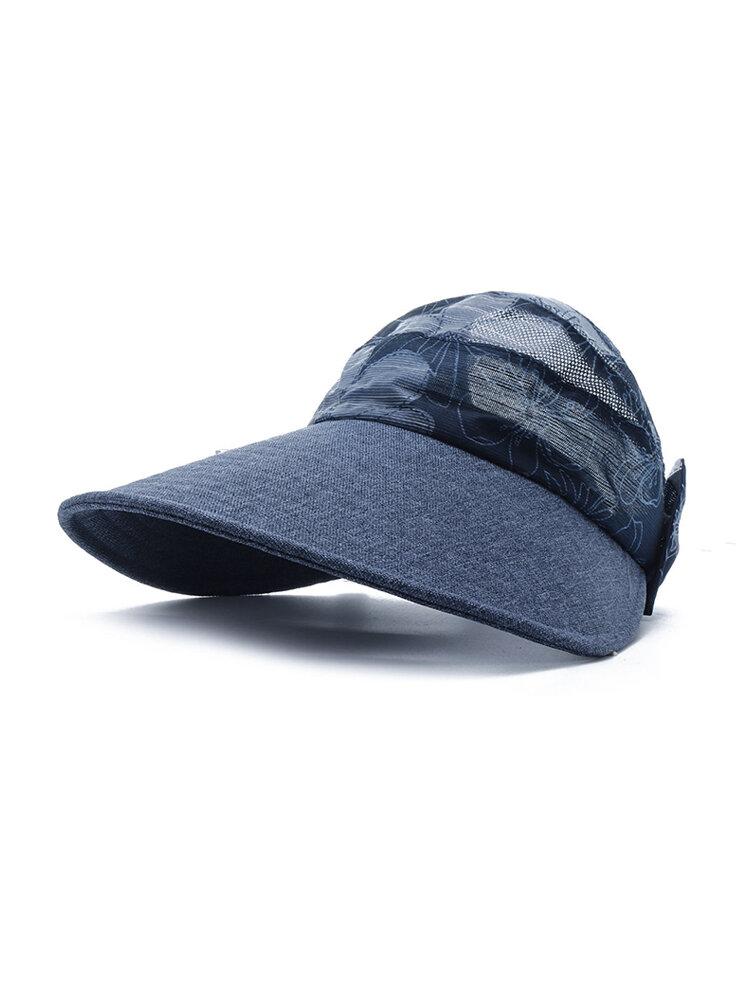 Womens Summer Outdoor Sport Anti-UV Foldable Baseball Cap Beach Sunscreen Sun Hat Flower Print Cap