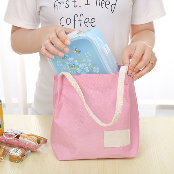 Fashion Portable Open Shopping Cosmetics Storage Bag Picnic Outdoor Lunch Box Storage Containers