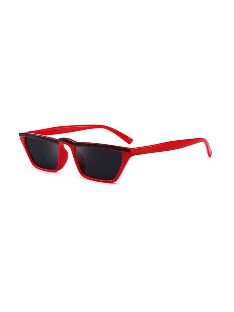 Women Lightweight UV400 HD Square Sunglasses Fashionable  Face Thin Cat Eye Sunglasses