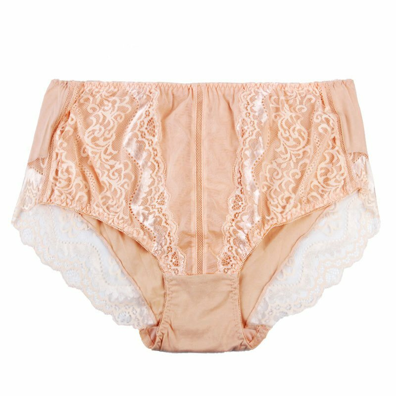 Plus Size Hip Lifting Lace Breathable Full Hip Mid Rise Panties