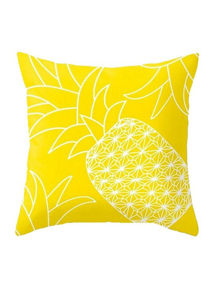 Yellow Pineapple Minimalism Geometric Plush Throw Pillow Cover Home Sofa Art Decor Cushion Cover