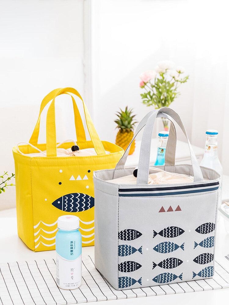 الرباط حمل حقيبة الغداء نزهة برودة حقيبة يد معزولة حاوية تخزين الأغذية