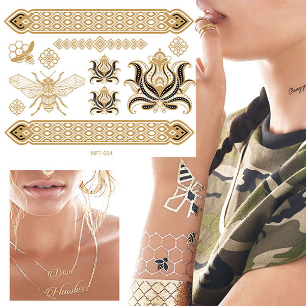 Waterproof Temporary Paper Tattoo Stickers Non-Toxic Three ...