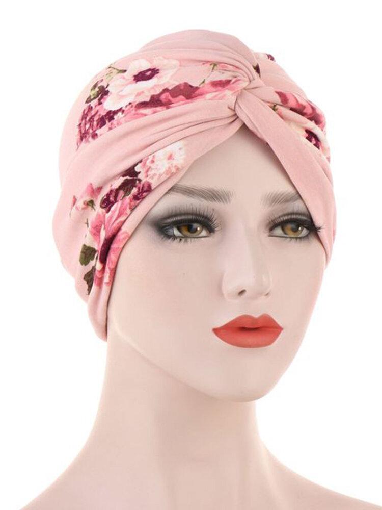 قبعة صغيرة بقلنسوة مقنعين قبعة مطبوعة تمويه مسلم قبعة الحجاب