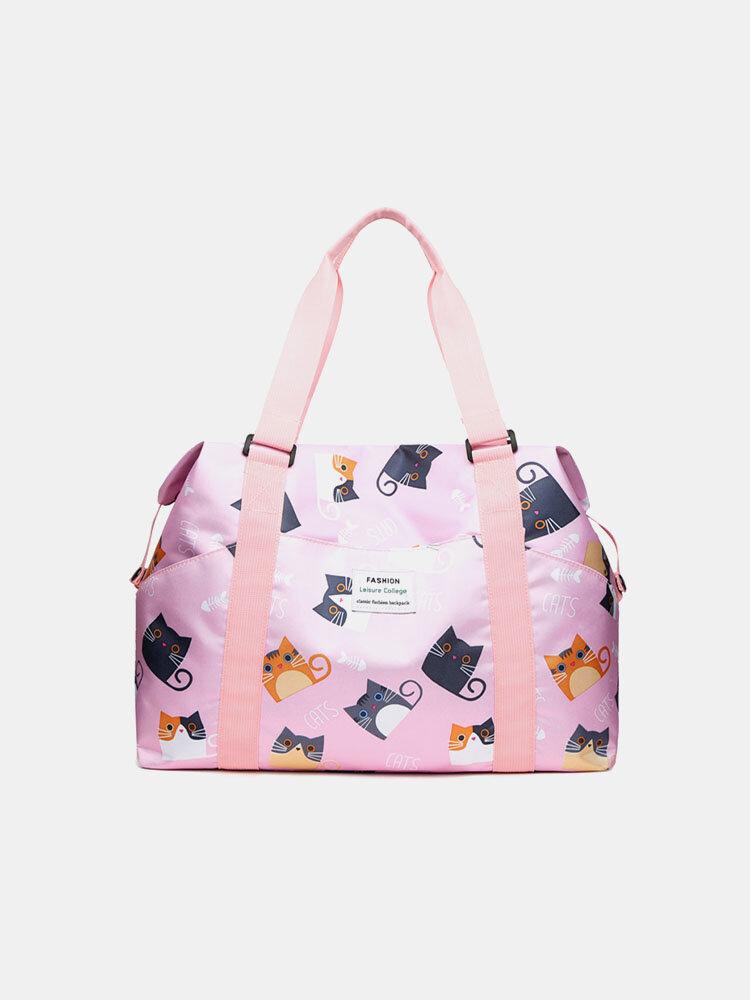 女性ハンドバッグトラベルバッグダッフルバッグフィットネススポーツバッグ大容量防水折りたたみトラベルバッグ