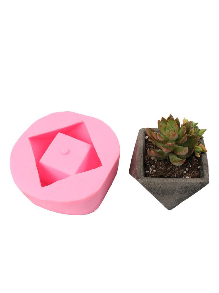 Handmade 3D Geometric Silicone Flower Pot Mold Concret Succulent Planter Mould