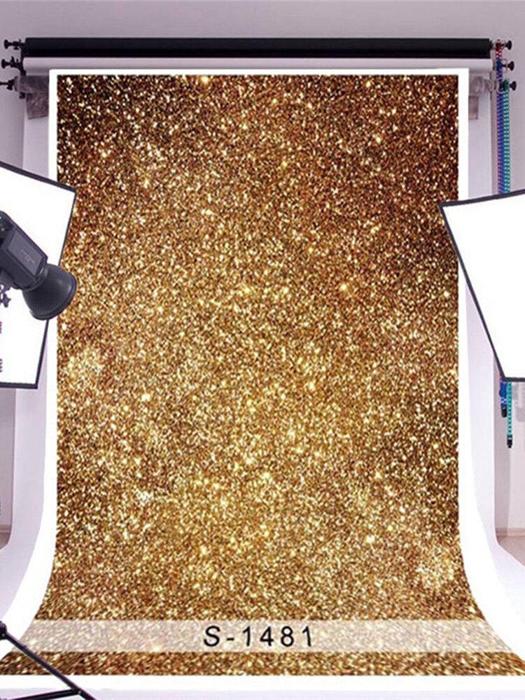 3x5ftゴールデンキラキラ写真背景ビニールスタジオ赤ちゃん写真背景