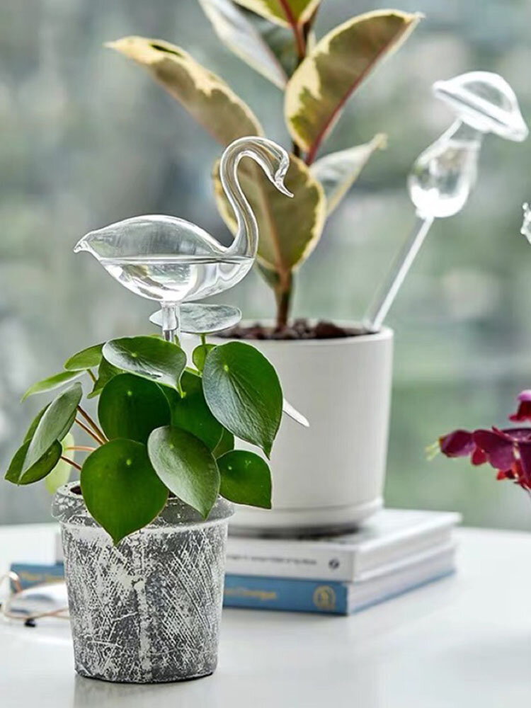 Glass Watering Cans Creative Shapes Garden Plants Houseplant Automatic Self Watering Device Glass Watering For Garden Tools