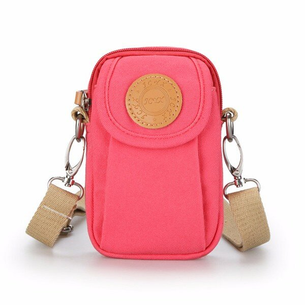 Woman Canvas Phone Bag Little Bag Casual Lightweight Crossbody Bag Sports Bag