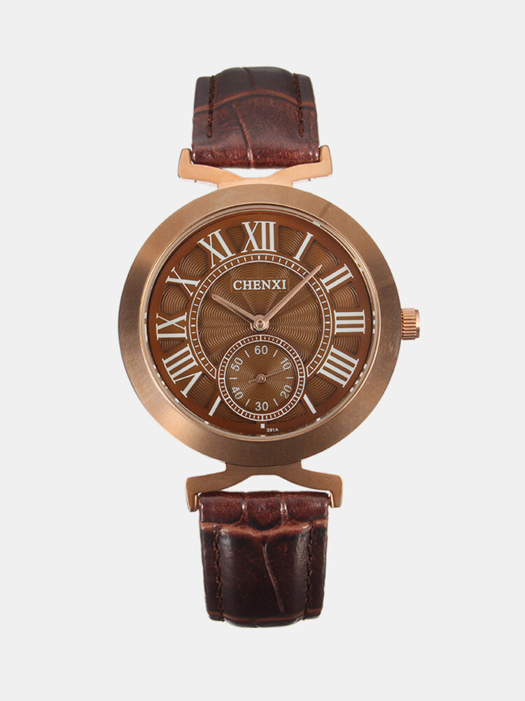 CHENXI Unisex Business Casual Watches for Women Leather Mens Watches