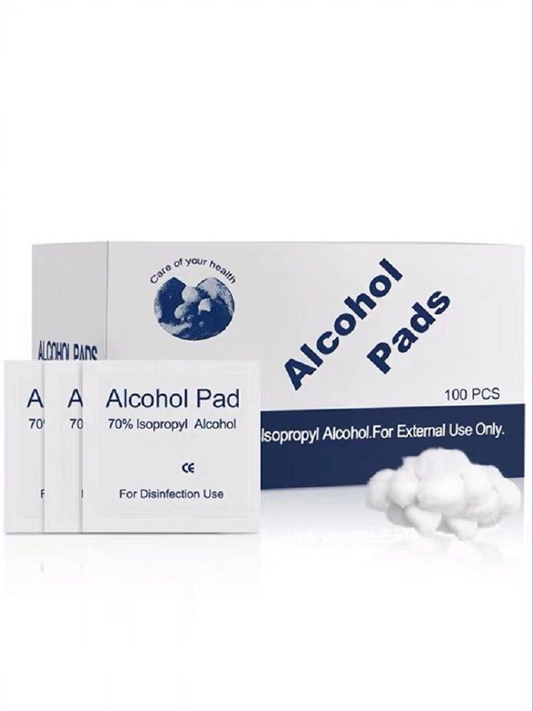 100 Pieces / Box Alcohol-Pads Disposable Alcohol Pads Sterilized Cotton