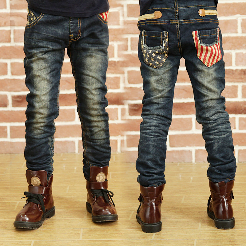 bd2776a7d ... Kids Boy Elastic Waist Straight Jeans Trousers Toddler Boys Fashion  Denim Pant Casual Jeans. Share Get Coupons