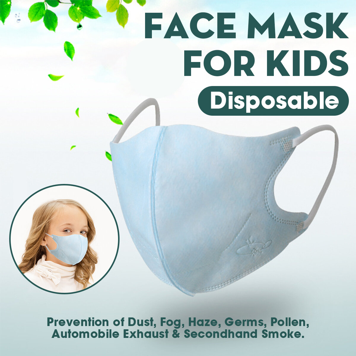 Disposable Children's Mask Three-layer Protection PM2.5 Meltblown Cloth 3D Mask
