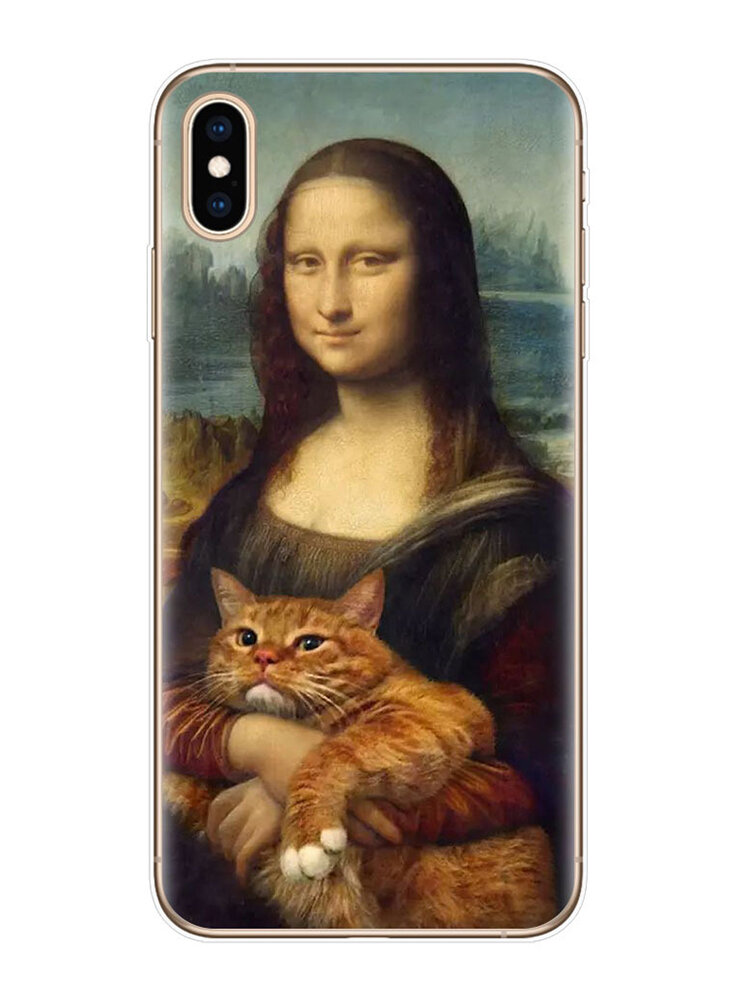 Women&Men Oil Painting Style Personality Spoof Character Phone Case