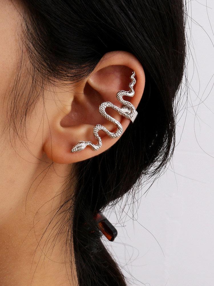 Vintage Alloy Animal Snake-shaped Earrings