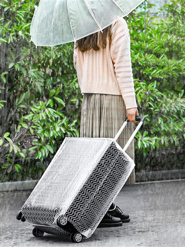 ポリ塩化ビニールの透明で明確な防水荷物カバートロリーケースカバーの耐久のスーツケースの保護装置