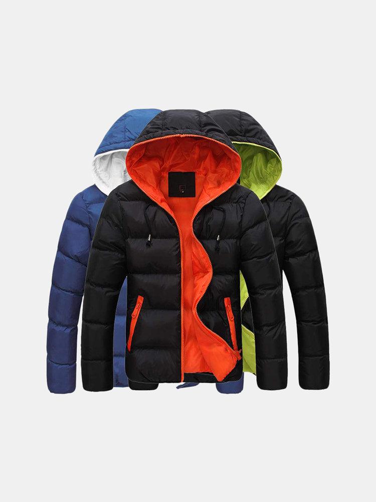 pretty nice c3de0 a9e23 Giacca invernale da uomo con cappuccio in piumino da uomo