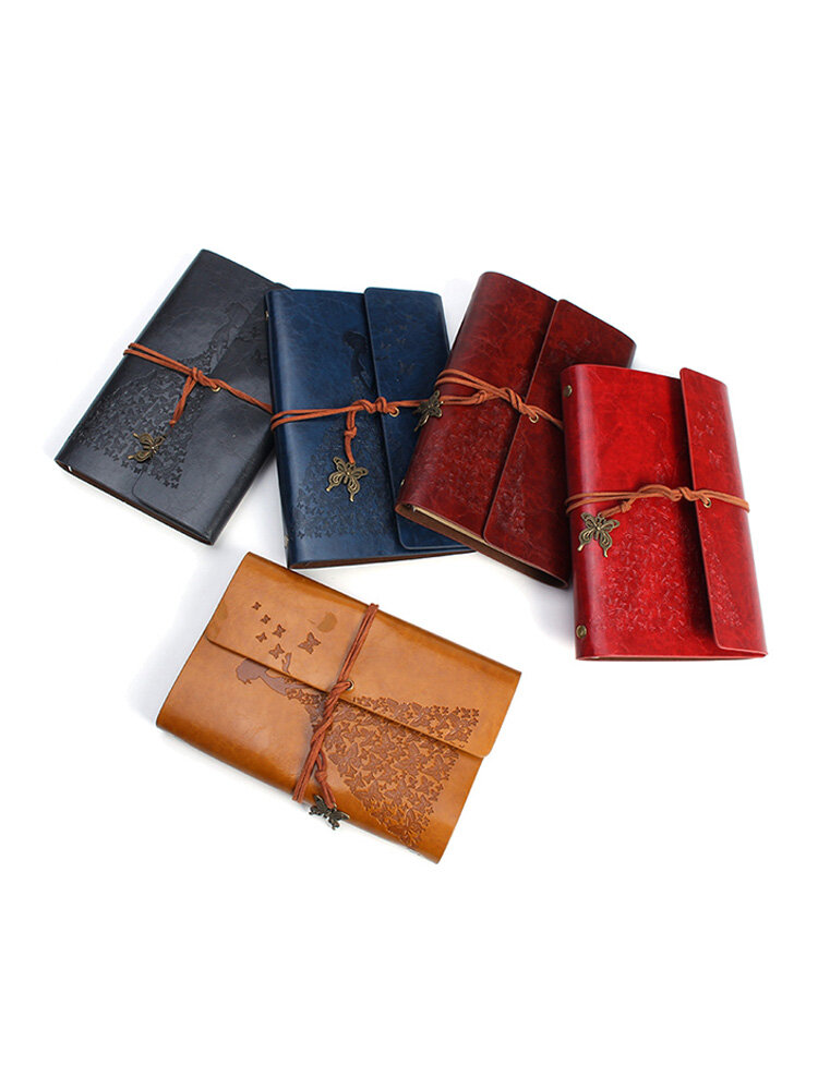 Genuine Leather Bound Travel Journal Handmade Notepad Vintage Style Loose Leaf Journal Notebook
