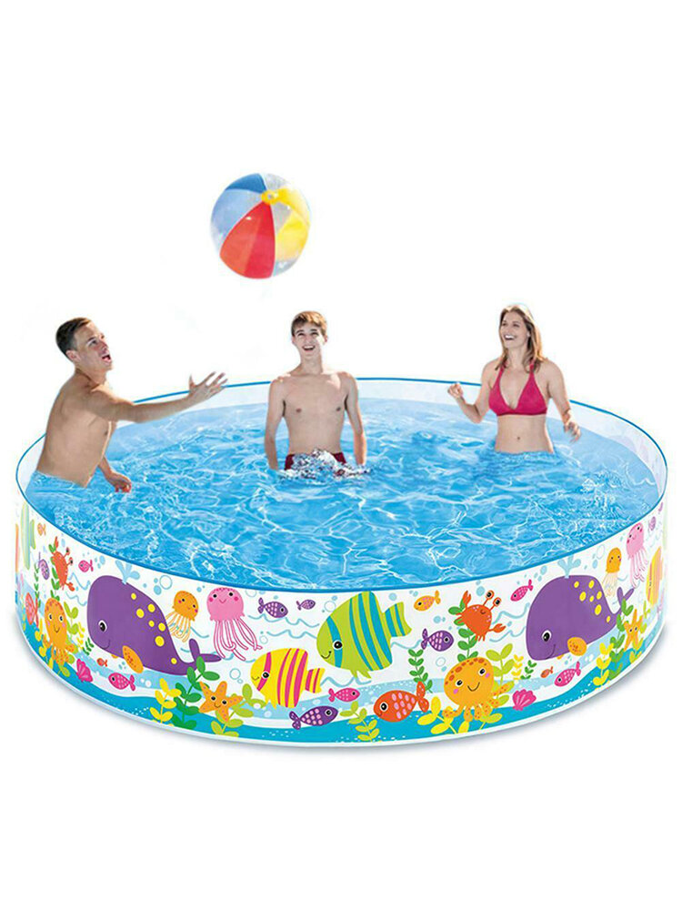 72'' x 15'' Inflatable Swimming Pools Inflatable Kiddie Pools Family Swimming Pool Swim Center for Kids Adults Babies Toddlers Outdoor Garden Backyard