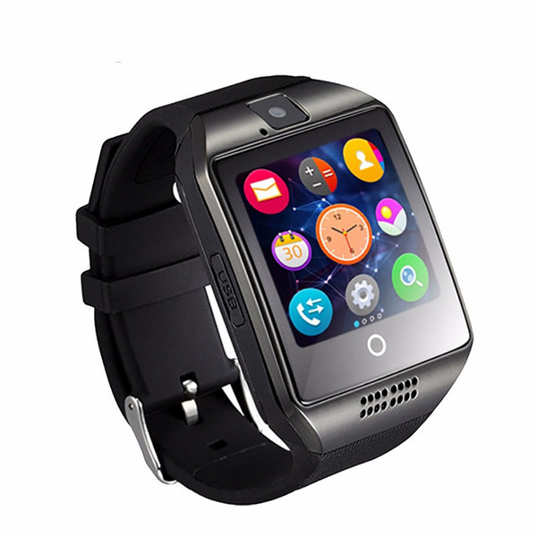 Q18 Sleep Monitor Pedometer Camera SMS SIM TF Card Bluetooth Smart Watch for Android IOS