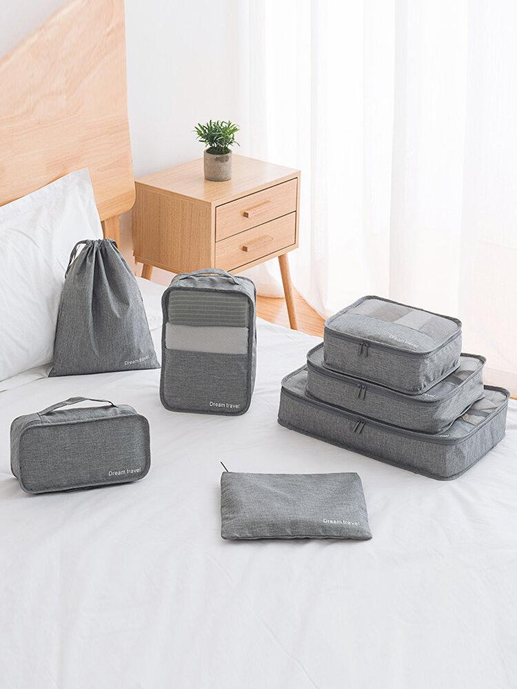 7Pcs Suitcase Sorting Bag Waterproof Bag Travel Clothes Storage Bag