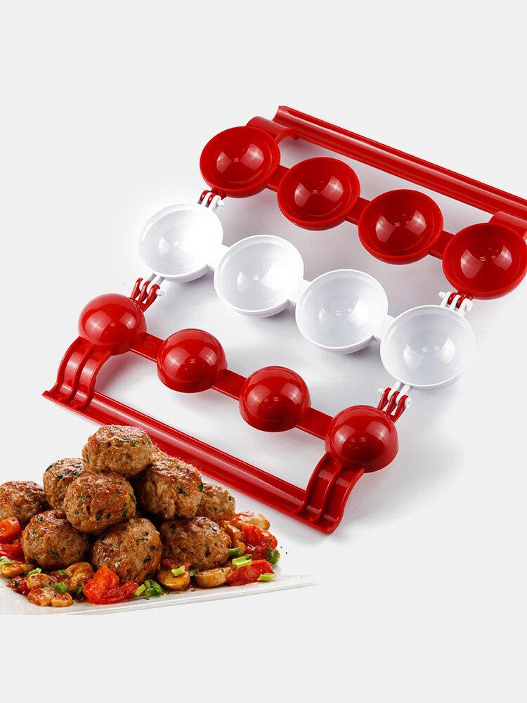 1 PC DIY Press Meatball Fishball Gourmet Mold Chicken Bacon Quick Maker Kitchen Gadget Supplies Festive Enjoy Kitchen Tool
