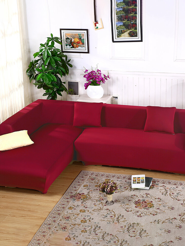 L شكل +3 مقعد تمتد غطاء أريكة قماش مرن حيوان أليف Slipcove حامي الأثاث