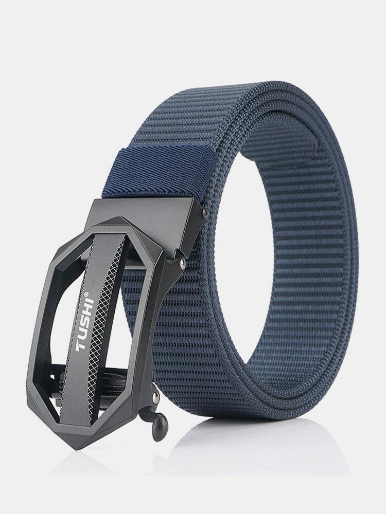 Men Nylon 120cm Automatic Buckle Tactical Outdoor Business Jeans Belt