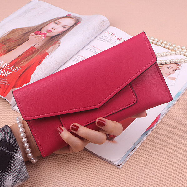 Women PU Leather Ultrathin Card Holder Wallets Purse Functional Wallet