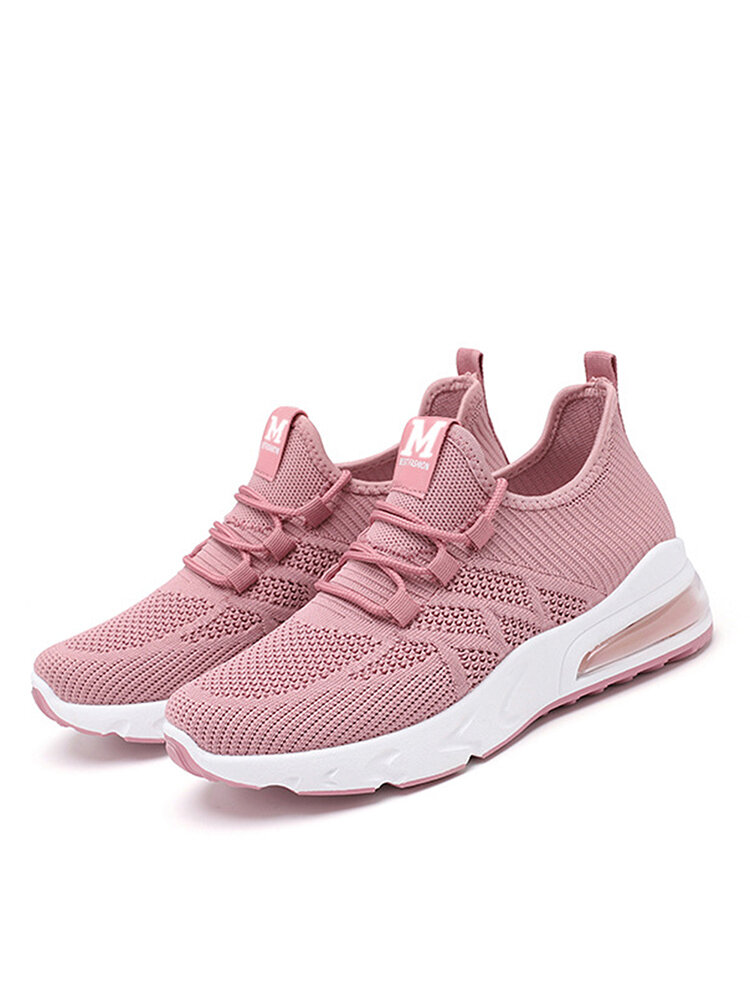Women's Mesh Hollow Out Breathable Cushioned Casual Sneakers